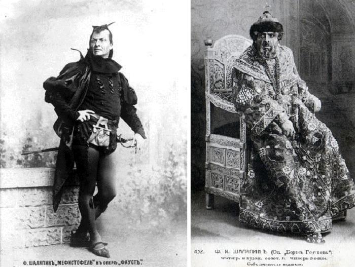 Федор Шаляпин в сценических образах.