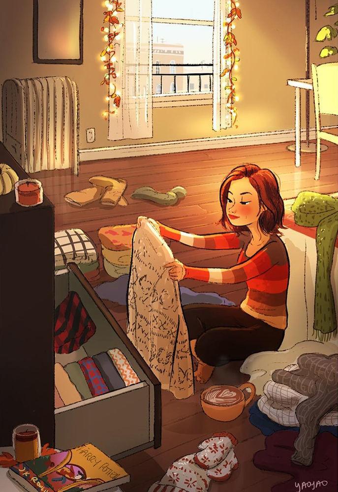 Дома — идеально! Художница показала, как ей живется на «удаленке», фото № 11