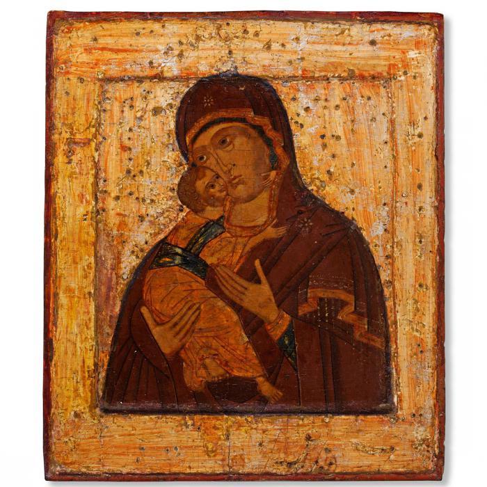 Икона Владимирской Богоматери Владимирская икона Божией Матери: фото
