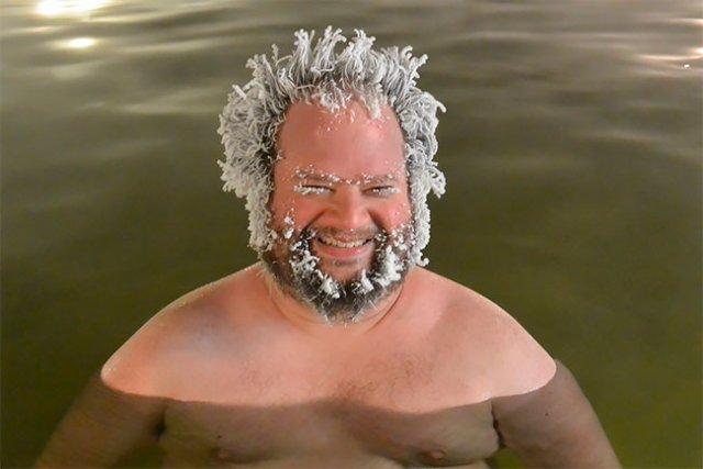 29 фотографий с конкурса замороженных волос, проводимого на горячих источниках курорта Тахини Юмор,приколы