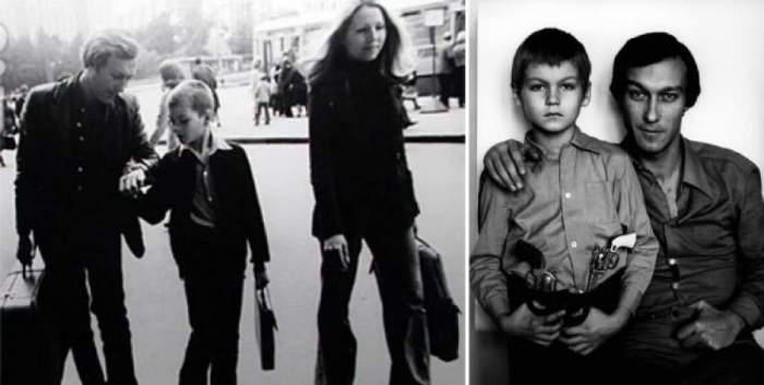 С сыном Филиппом в 1973 году.