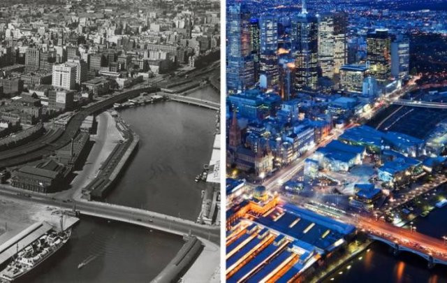 Как с течением времени изменился мир (17 фото)