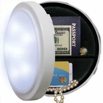Домашний сейф в лампе фото
