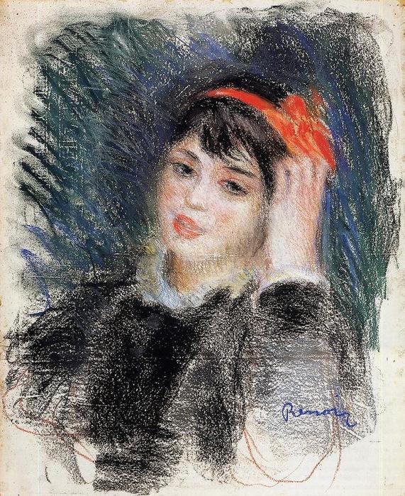 22 голова молодой женщины, 1878-80 (571x700, 149Kb)
