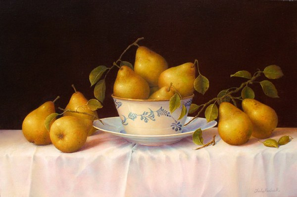 Pears, Bowl & Plate (600x399, 41Kb)