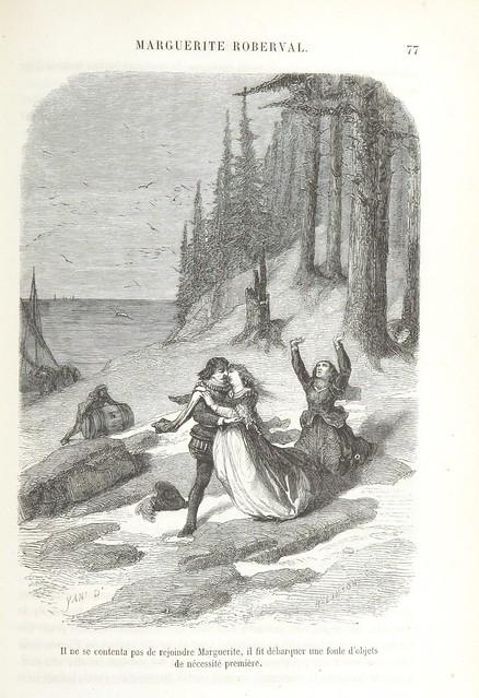 Иллюстрация к одной из книг о Маргерит де ла Рок.