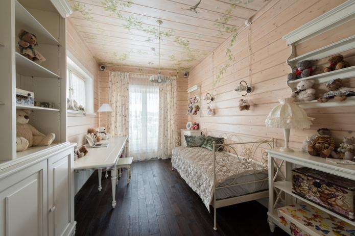 деревянные стены с рисунком