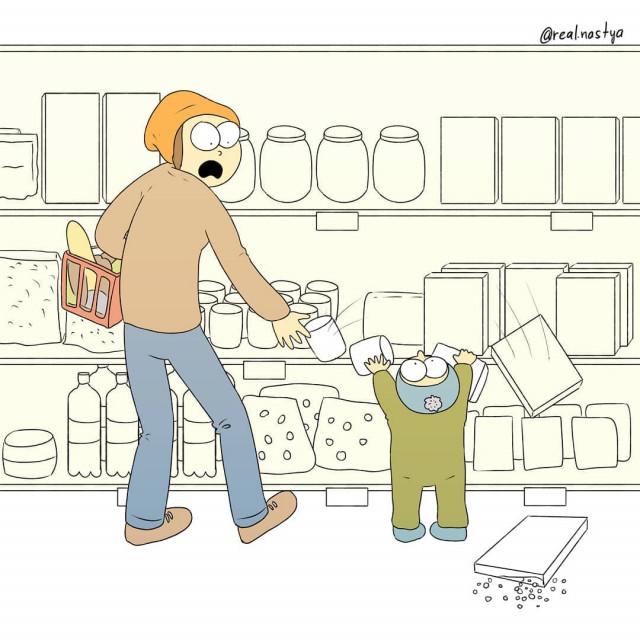 Забавные и честные комиксы о материнстве и обо всём остальном