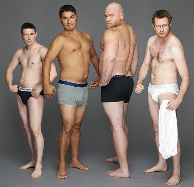 Обычные мужчины в рекламе нижнего белья