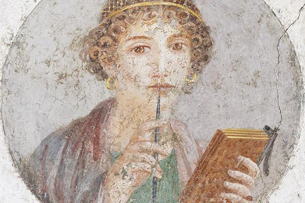 Помпейская фреска с изображением женщины, которую принято называть Сапфо