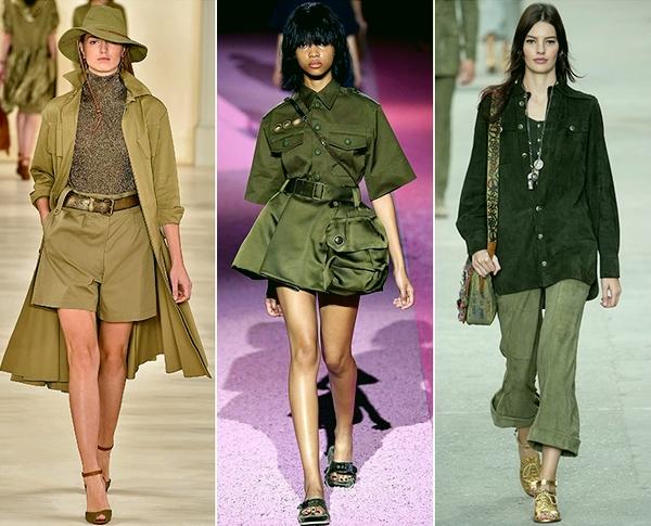 Одежда цвета хаки в моде весна-лето 2015