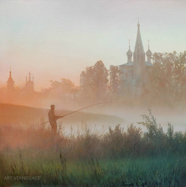 УтреннÑÑ Ñ€Ñ‹Ð±Ð°Ð»ÐºÐ° - картина Ð'.Ð.Палачева