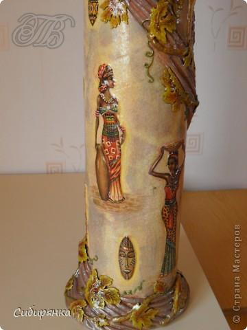 Добрый день, Страна Мастеров!!! Как и обещала, покажу некоторые промежуточные фотографии  процесса изготовления напольной вазы с африканскими мотивами. . Фото 22