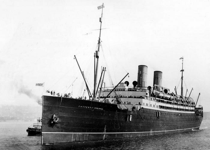 Пассажирский лайнер «Императрица Ирландии».