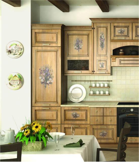 Декупаж встроенного холодильника