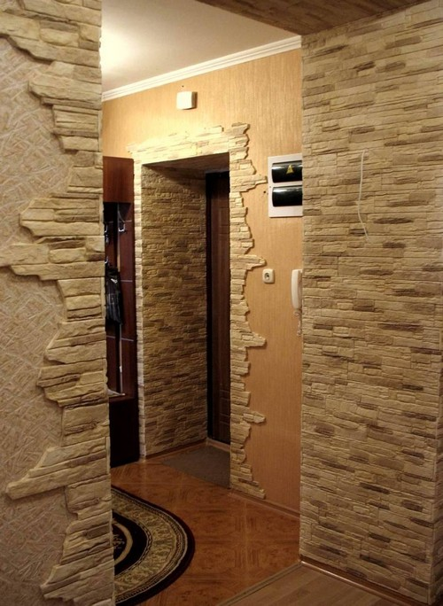 арка из камня в квартире