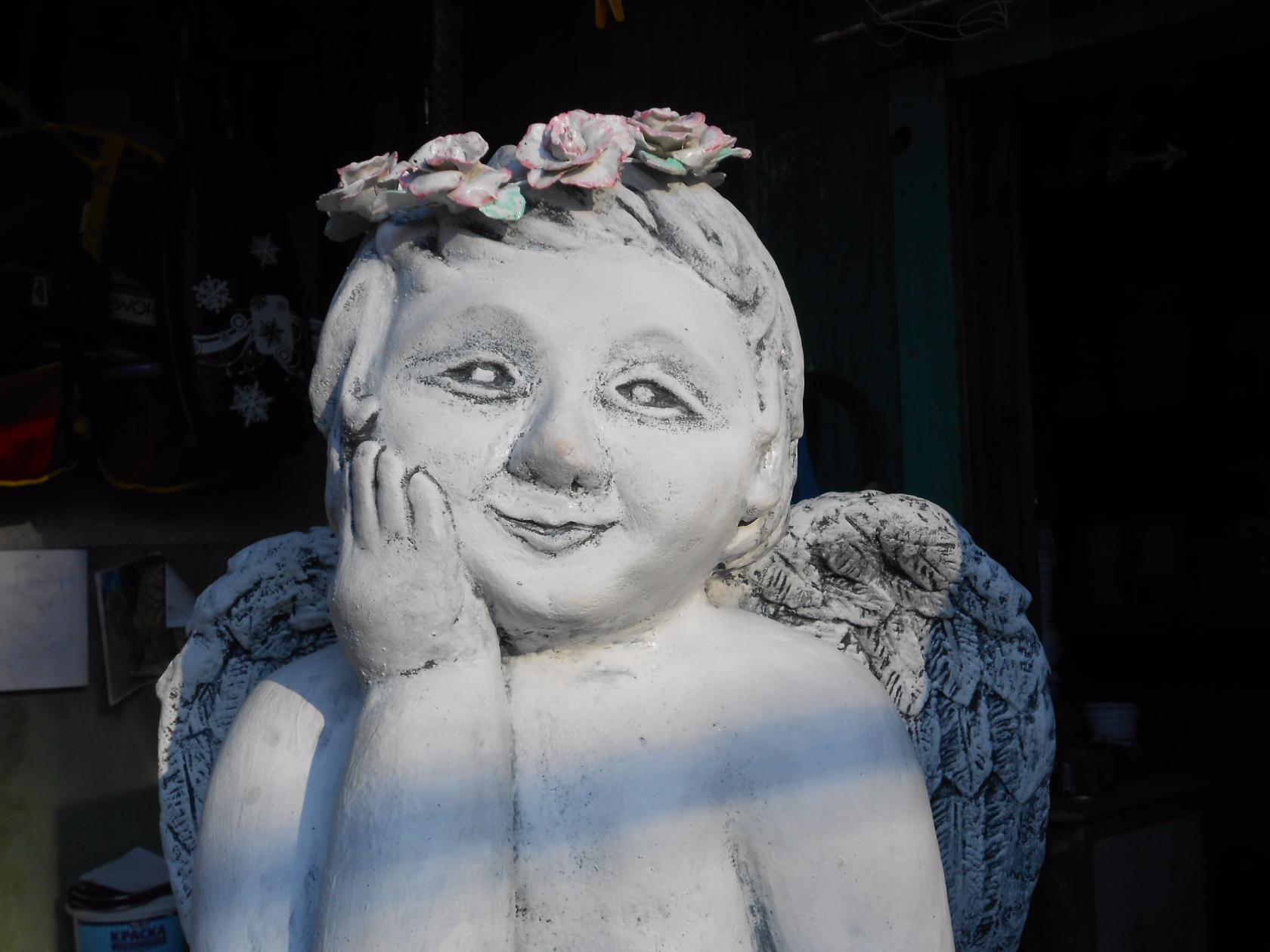 Садовые скульптуры своими руками: мастер-класс и фото Ангел скульптура своими руками