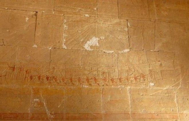 Фрагменты древних египетских кораблей