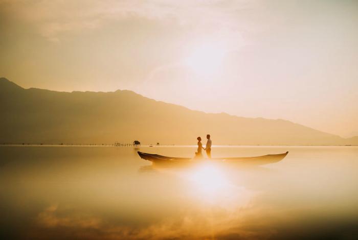 Рассвет в лагуне Ланг-Ко, Вьетнам.