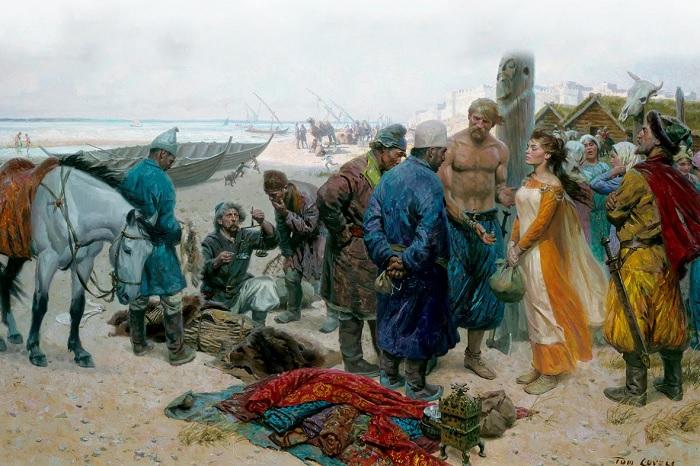 Викинги были очень активными работорговцами и только некоторых рабынь оставляли себе.