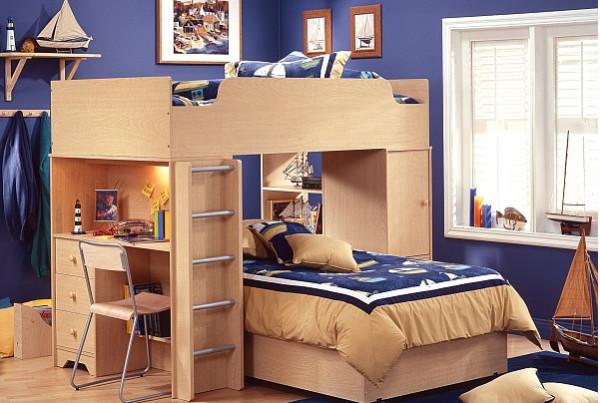 Удивительная кровать-чердак с встроенным рабочим местом