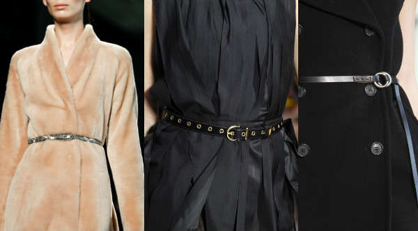 Модные тонкие ремешки осень-зима 2014-2015