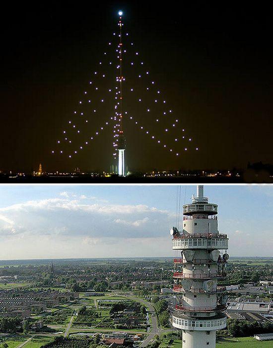 Самая, самая высокая в мире рождественская елка.