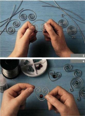 Плетем из проволоки. Как сделать мавританский абажур.