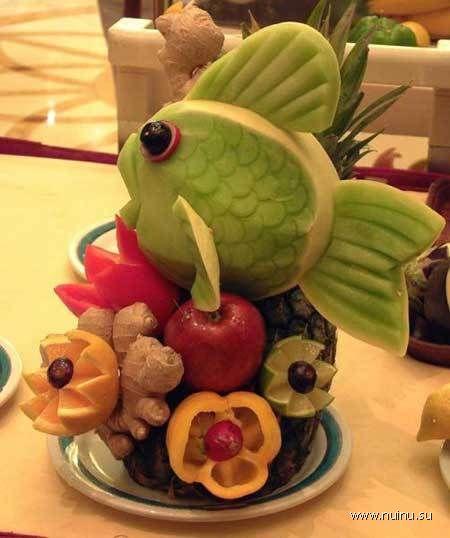 Необычные поделки из еды. Вторая часть. (14 фото)