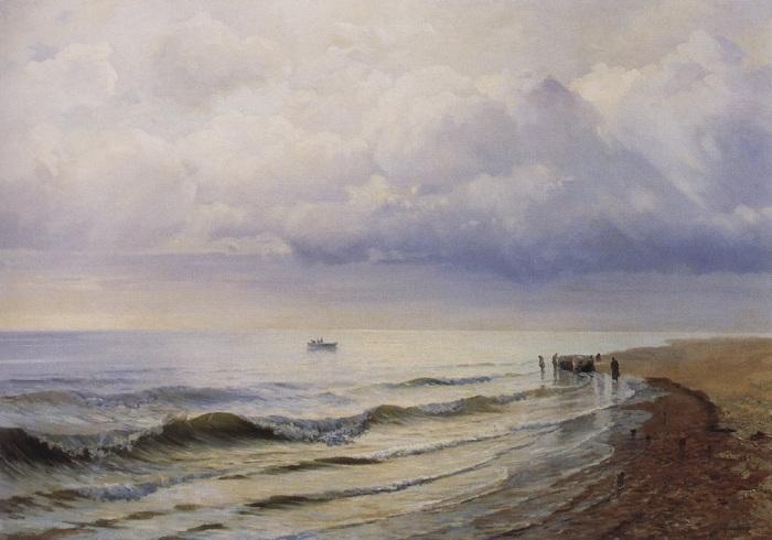 «Морской вид». (1884). Частное собрание. Автор: Р.Г.Судковский.