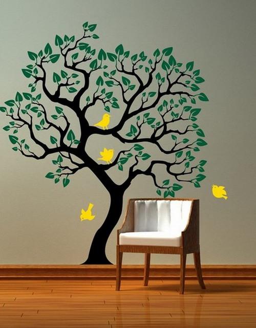 дерево на стене рисунок