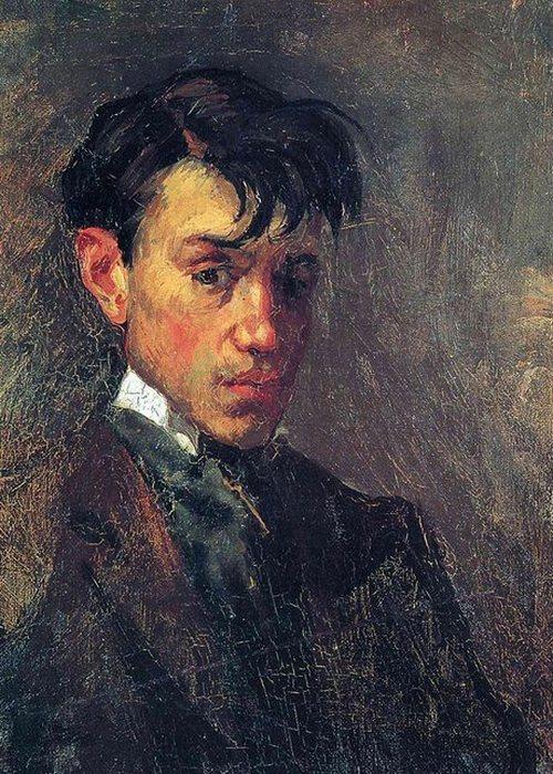 Автопортрет Пабло Пикассо, 1896 года.