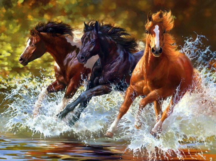 лошади художник Bonnie Marris - 01