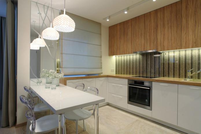 кухня в однокомнатной квартире 35 кв. м.