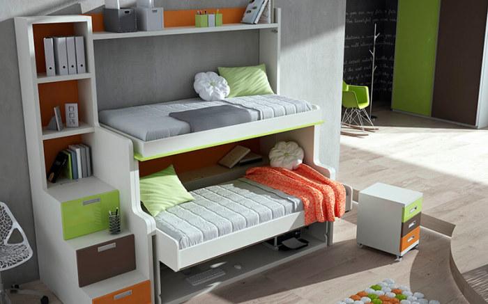 Кровать для двоих детей.