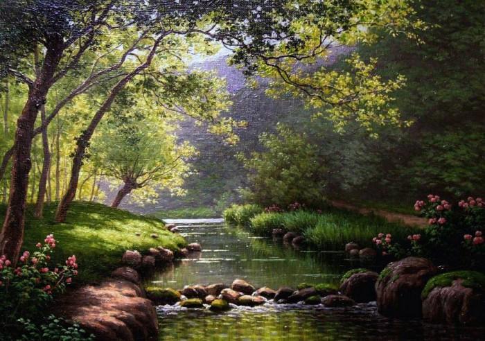 пейзажи художник Charles Edmond Rene-His - 04