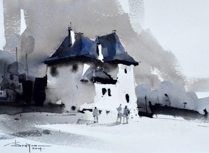 Одинокий дом. Автор: Corneliu Dragan-Targoviste.