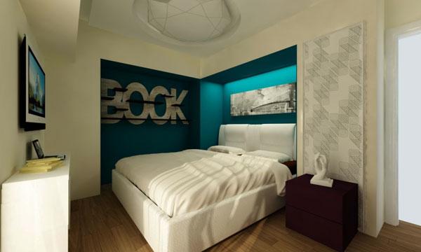 Маленькая современная спальня