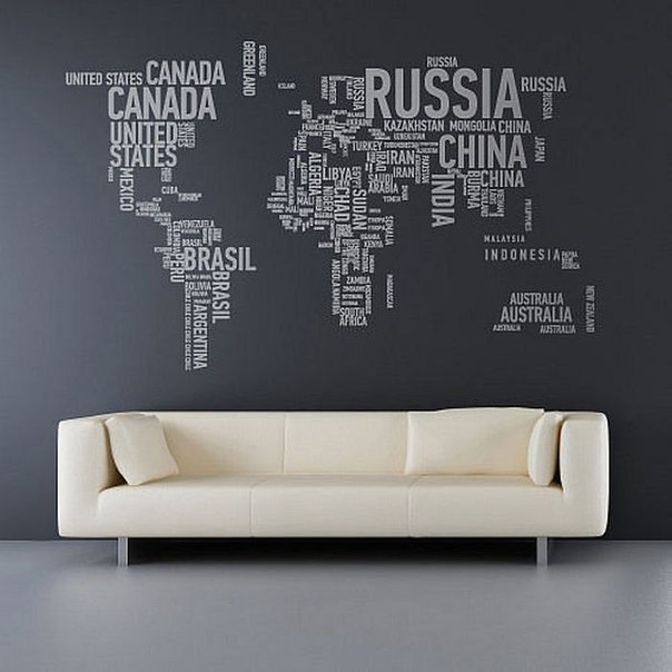 Карты в интерьере
