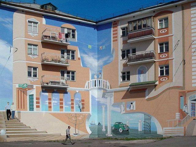 Оптические иллюзии в городе