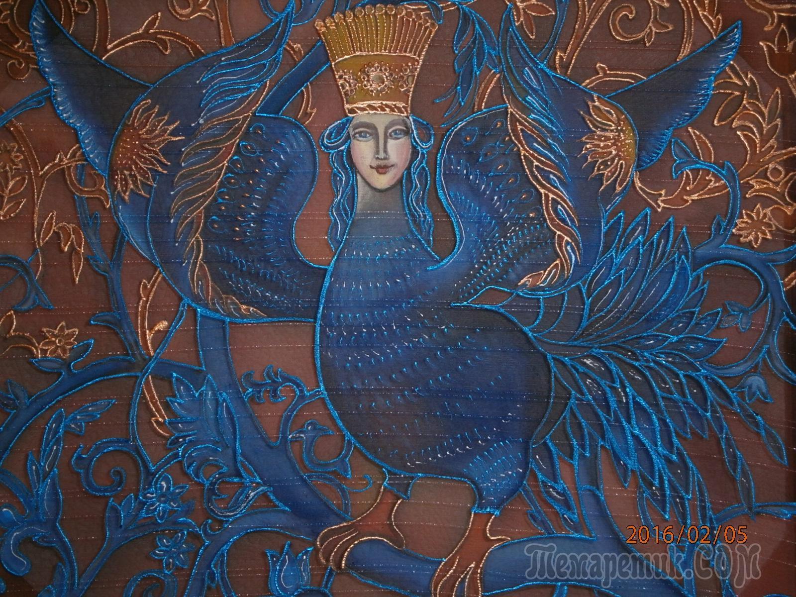 Птица сирин алконост и гамаюн рисунки