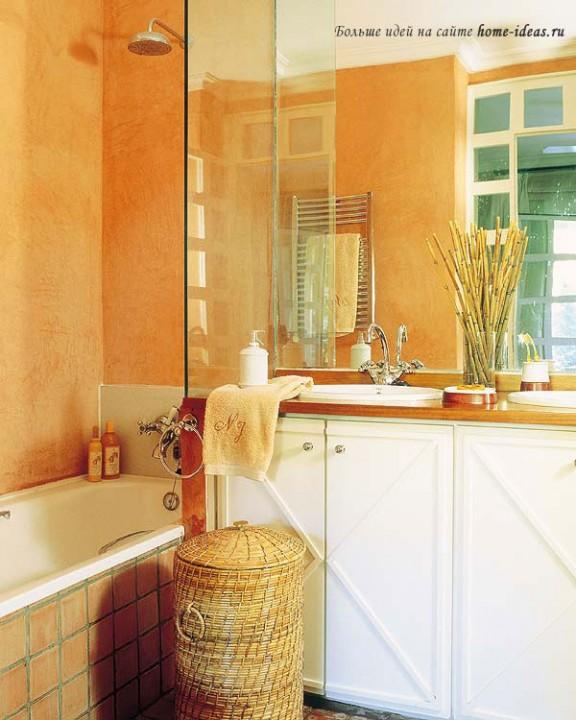 дизайн интерьера совмещенной ванной и туалета