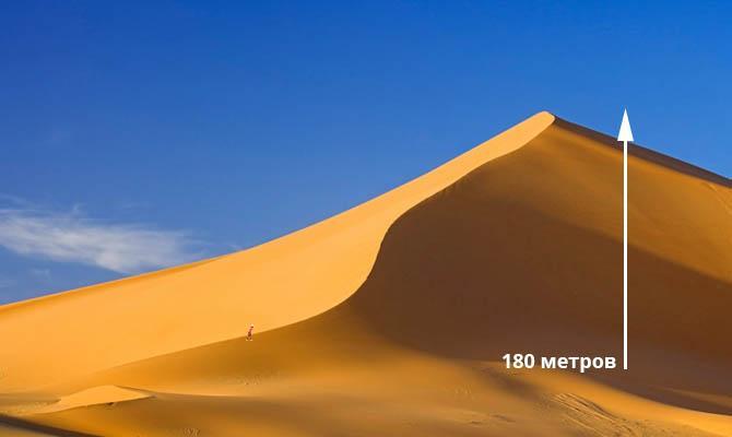 Самая высокая Дюна 180 метров, Интересные факты о Пустыне