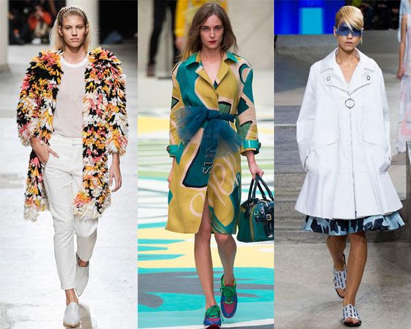 Модные расцветки и принты плащей весна 2015