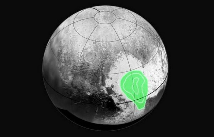 Фотоснимки Плутона: окись углерода и кристаллического азота.
