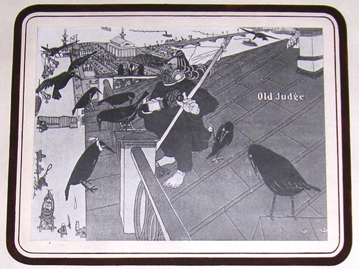 Карикатура. Пернатые пациенты (А.И.Куинджи на крыше своего дома). Автор: Павел Щербов.