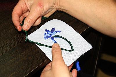 вышивка шелковыми лентами мастер класс