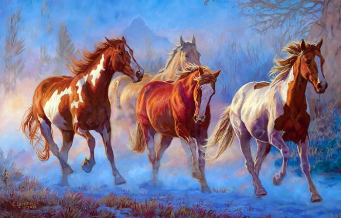 лошади художник Bonnie Marris - 05