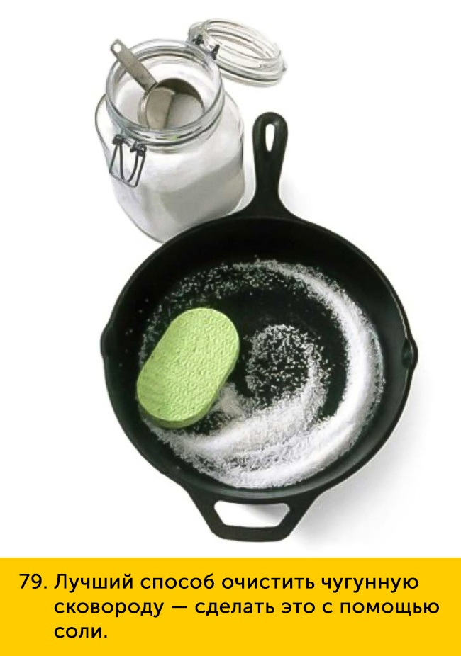 79 Лучший способ очистить чугунную сковороду сделать это с помощью соли