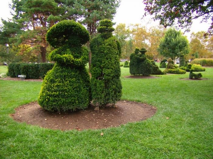 Топиар - зеленое искусство фигурной стрижки. (40 фото)
